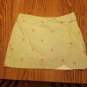 Lilly Pulitzer Skirt/Skort pink palm trees size 6